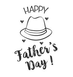 happy father day hand draw design collection vector image