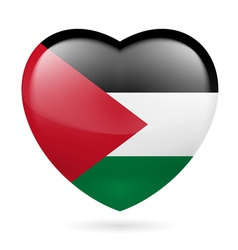 Heart icon of Palestine vector