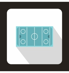 Hockey pitch icon flat style vector