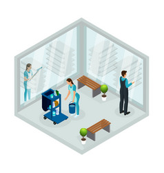 Isometric cleaning service concept vector