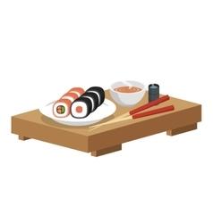 Japan travel food sushi vector