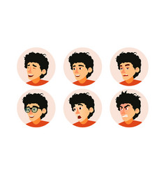 Junior character business people avatar vector