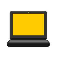 laptop on white background flat style vector image