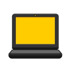laptop on white background flat style vector image