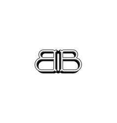 Letter bb logo designs inspiration isolated on vector