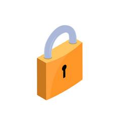 lock key isometric icon padlock data business vector image