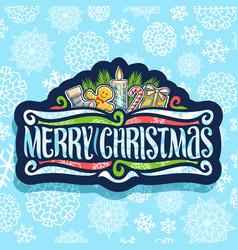 logo for merry christmas vector image