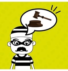 man criminal law icon vector image
