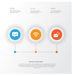 Media icons set collection of message inbox vector