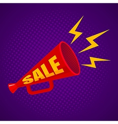 megaphone sale purple vector image