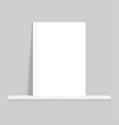 mock up of empty book vector image