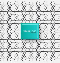 modern connect hexagon vector image