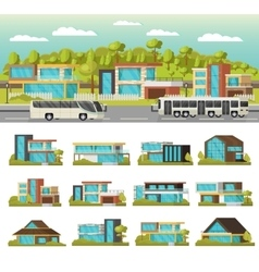 Modern Houses Composition vector image