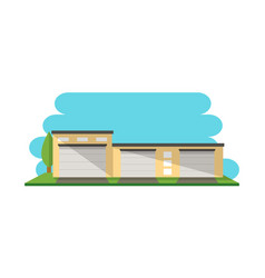 Modern warehouse construction isolated icon vector