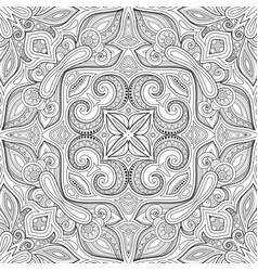 monochrome seamless pattern with mosaic motif vector image