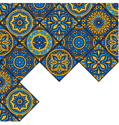 Moroccan ceramic tile background vector