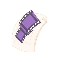 MOV file icon cartoon style vector