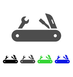 multi-tools knife flat icon vector image vector image