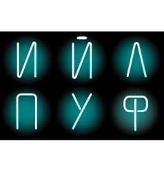 neon letters vector image