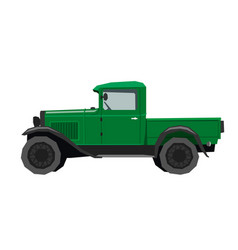 nursery retro truck drawing cartoon pickup car vector image