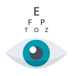 Optometry or ophthalmology icon vector