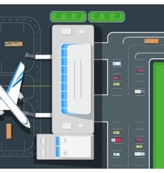 Parking at the airport emplanement car space vector