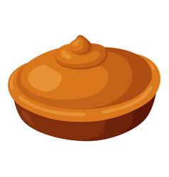 pie icon baked round tasty homemade tart vector image
