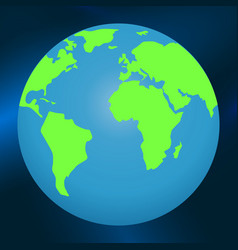 planet earth in space on a blue background vector image
