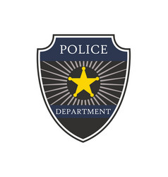 police badge shield cop department badge of vector image