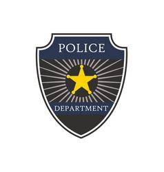police badge shield cop department badge vector image