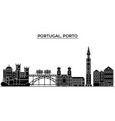 Portugal porto architecture city skyline vector