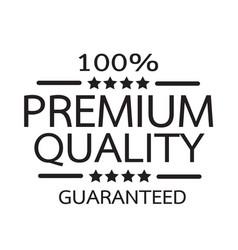 premium quality badge icon vector image