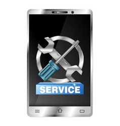 Repair of smartphones and gadgets vector