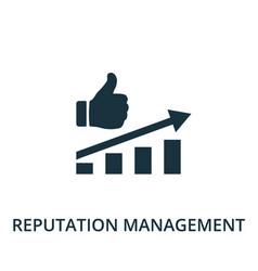Reputation management icon simple line element vector
