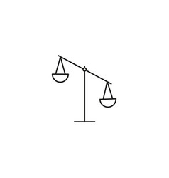 right tilt balance icon vector image