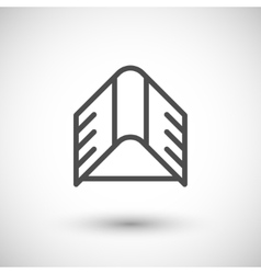 Roof line icon vector image
