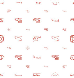 Rotate icons pattern seamless white background vector