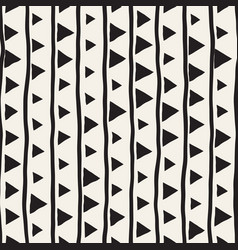 seamless childlike pattern monochrome hand vector image