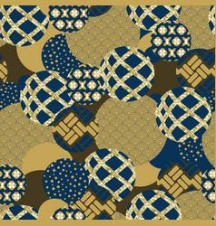 seamless pattern circles vector image