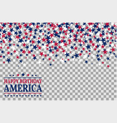seamless pattern with stars for 1st july vector image