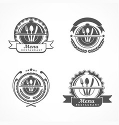 set of design menu labels vector image