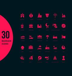 set simple icons bahrain vector image