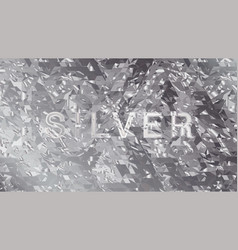 silver shatter vector image