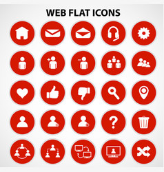 social network icons vector image