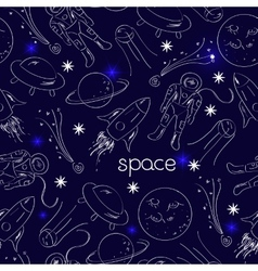 Space seamless pattern vector image