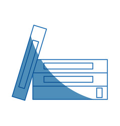 Stack book literature encyclopedia learn office vector