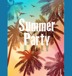 summer beach summer beach party invitation vector image