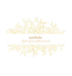 template branch pattern gold vector image