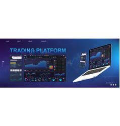 trade platform ui dashboard design vector image