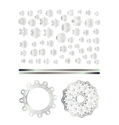 Traditional silver decor vector image